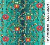 vector background with... | Shutterstock .eps vector #1231968205