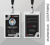 modern black id card design... | Shutterstock .eps vector #1231976842