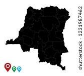 map of democratic republic of... | Shutterstock .eps vector #1231987462