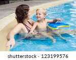family of mom and son enjoying... | Shutterstock . vector #123199576