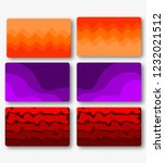 three pairs of abstract color... | Shutterstock .eps vector #1232021512