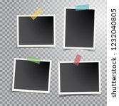 four blank photos isolated with ... | Shutterstock .eps vector #1232040805