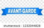 avant garde text on a ribbon....   Shutterstock .eps vector #1232044828