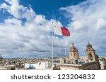 republic of malta flag waving...   Shutterstock . vector #123204832