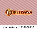 gold shiny badge with lesbian... | Shutterstock .eps vector #1232068138