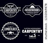 woodwork badges. set of... | Shutterstock .eps vector #1232069878