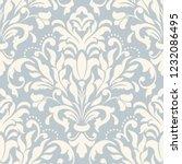 vintage seamless damask pattern.... | Shutterstock .eps vector #1232086495