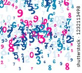 falling numbers abstract... | Shutterstock .eps vector #1232113498