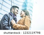 young couple of lovers having... | Shutterstock . vector #1232119798