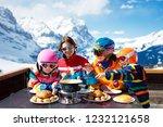 family with children enjoying... | Shutterstock . vector #1232121658