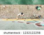 top view of graffiti artist... | Shutterstock . vector #1232122258