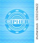 cipher water wave style badge. | Shutterstock .eps vector #1232124622