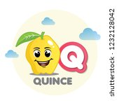 quince mascot with letter q | Shutterstock .eps vector #1232128042