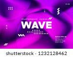 3d distorted wave lines.... | Shutterstock .eps vector #1232128462