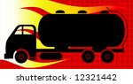 fuel carrying tanker lorry  | Shutterstock .eps vector #12321442