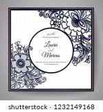 wedding floral invitation.... | Shutterstock .eps vector #1232149168