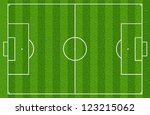 soccer field or football field | Shutterstock . vector #123215062
