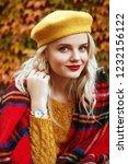 colorful  cozy autumn  fashion... | Shutterstock . vector #1232156122