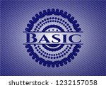basic emblem with jean texture | Shutterstock .eps vector #1232157058