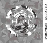 herb on grey camouflaged texture | Shutterstock .eps vector #1232157115