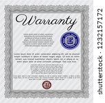 grey retro warranty certificate ... | Shutterstock .eps vector #1232157172