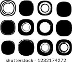 grunge post stamps collection ... | Shutterstock .eps vector #1232174272