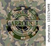 carrousel written on a camo... | Shutterstock .eps vector #1232176498