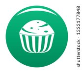 cup cake icon. simple... | Shutterstock .eps vector #1232177848