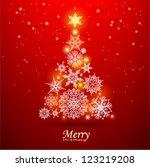 christmas tree. vector eps 10. | Shutterstock .eps vector #123219208