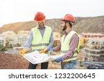 workers engineers discussing...   Shutterstock . vector #1232200645