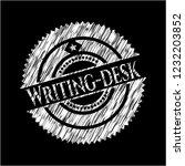 writing desk with chalkboard... | Shutterstock .eps vector #1232203852