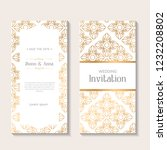 gold vintage greeting card on... | Shutterstock .eps vector #1232208802
