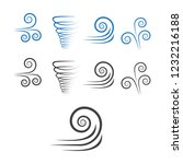 wind icons. climate and motion... | Shutterstock .eps vector #1232216188