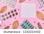 medicine background   pharmacy. ... | Shutterstock . vector #1232221432
