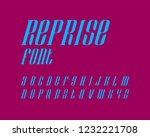 reprise font set italic version   Shutterstock .eps vector #1232221708
