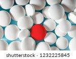 medicine pills background.... | Shutterstock . vector #1232225845