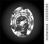 sun icon on grey camo texture | Shutterstock .eps vector #1232235265