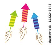 three colorful firecracker... | Shutterstock .eps vector #1232249845