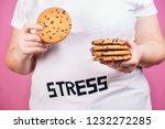 stress  eating problems ... | Shutterstock . vector #1232272285