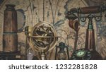 antique brass globe armillary... | Shutterstock . vector #1232281828