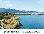 the aegean sea view  saronic...   Shutterstock . vector #1232288938