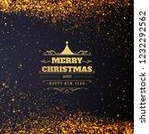 beautiful glitters merry... | Shutterstock .eps vector #1232292562