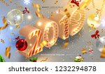 2019 isometric new year trendy... | Shutterstock .eps vector #1232294878