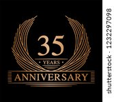 35 years design template. 35th... | Shutterstock .eps vector #1232297098