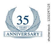 35 years design template. 35th... | Shutterstock .eps vector #1232297125