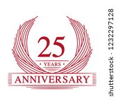25 years design template. 25th... | Shutterstock .eps vector #1232297128