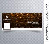 beautiful merry christmas... | Shutterstock .eps vector #1232307745