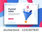 funnel sales. landing page... | Shutterstock .eps vector #1232307835