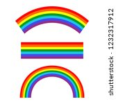 set of rainbows white... | Shutterstock . vector #1232317912