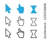 arrow web cursors. arrow cursor ... | Shutterstock .eps vector #1232318608